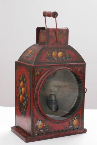 Antique Kerosene Lamp,  Hand Painted By Peter Ompir photo