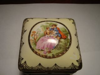 Antique Vintage Porcelain Hand Painted Limoges Made In Japan Jewelry Box photo