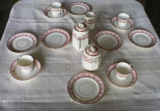 Staffordshire Allerton Children ' S Dishes 21 Pcs 2 Serving Pcs Teapot Sugar Cr photo