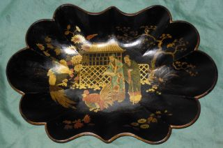 Papier Mache Chinoiserie Tray photo