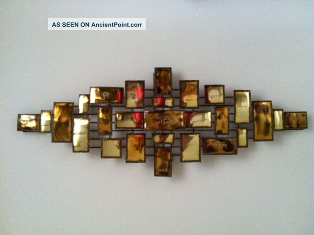 Mid Century Metal Wall Art Decor Metalware Photo