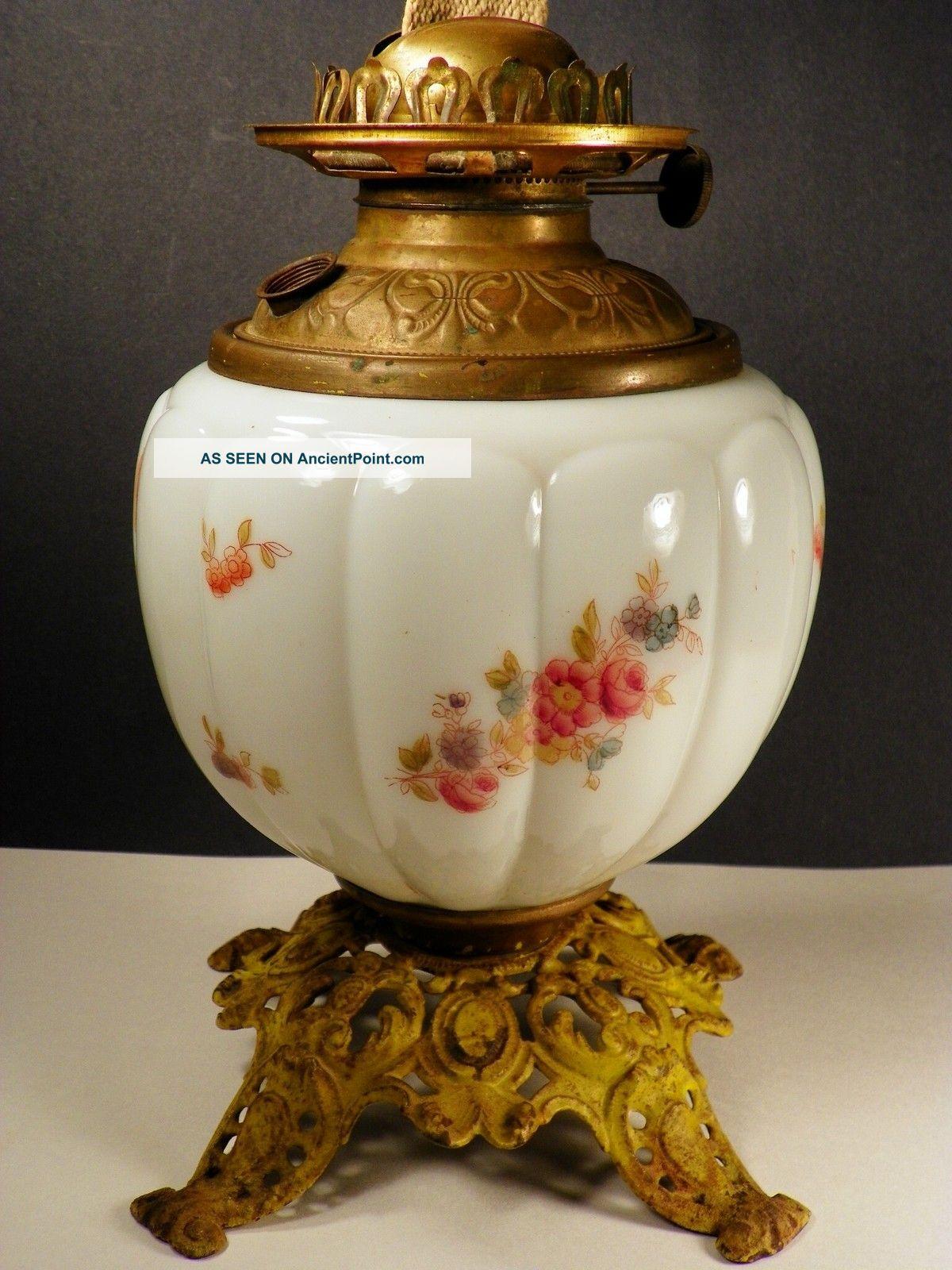 Milk Glass Lamps New 646 Victorian Milk Glass Oil Lamp
