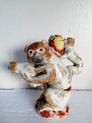 Antique Monkeys Oriental Teapot - British Reg Mark Ca 1841 - 1883 - Whimsical photo
