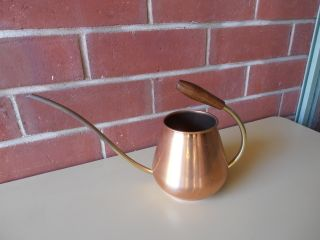 Eames Era Copper Watering Can Alladins Lamp Portugal Tagus Teak Funky Retro photo