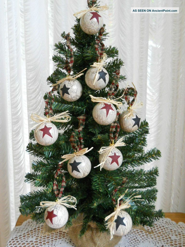 10 Primitive Country Christmas Ornaments
