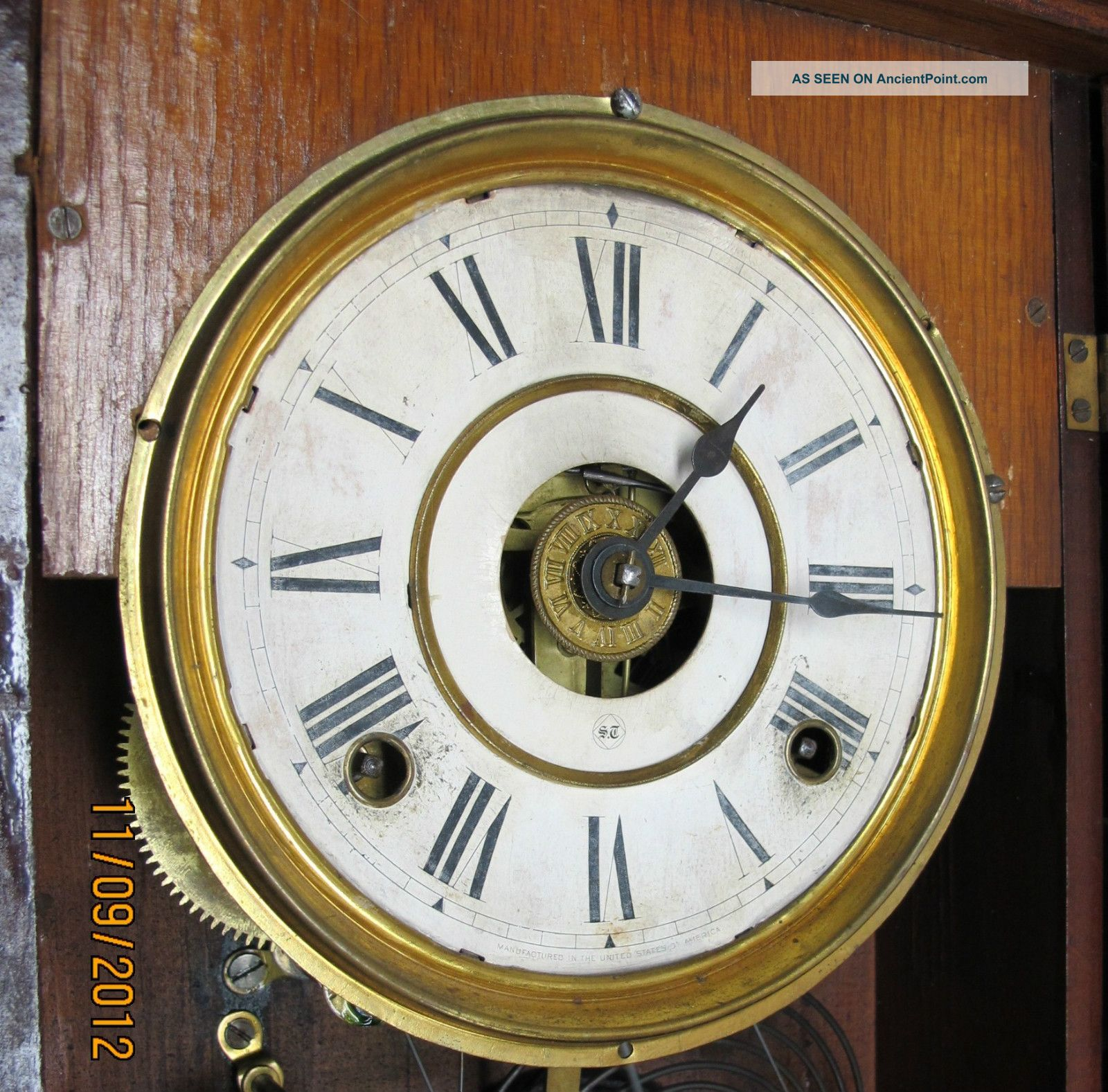 dating seth thomas adamantine mantel clock Adamantine celluloid veneer was patented in 1880 c1882 – seth thomas introduced clock models in adamantine veneer finishes which mimicked marble, slate, wood grains and other materials c1910 – bakelite an early inflammable, mouldable plastic, was invented belgian born scientist dr leo baekeland, founded the bakelite corporation.