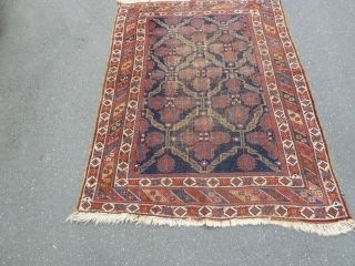 Antico - Swiss - 2 Antique Afshar Rug 3`9 X 5`3 Ft photo