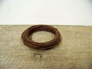 Primitive 22 Gauge Rusty Rust Tin Wire 30 ' Craft Stag Lane Primitives photo