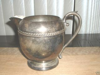 Large Silver On Copper Pitcher Unusual Shape photo
