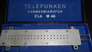 Mikrofon Ca.  1930 Kammer Mikro Ela M46 Germany Orig.  Telefunken Bad ? Working photo