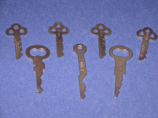 Antique National Cash Register Keys - 7 - All Different Keys photo