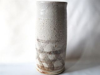 Japanese Shino Ware Vase W/sign/ Tasteful Glaze/ 8.  8