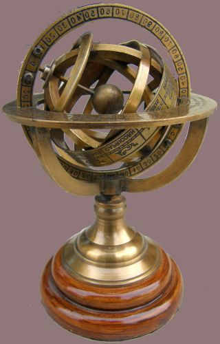 Nautical Brass Sphere Armillary Collectible Nautical Decor Gift photo