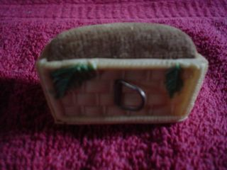 Figural Tape Measure Basket With Pincushion photo