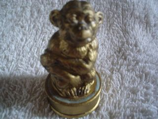 Figural Tape Measure Monkey On Stand photo