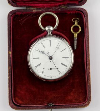 Extremely Unusual Pocket Watch Seconde Foudroyante Experimental Movement Box photo