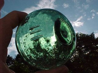 Japanese Glass Float Green Marked L L L photo