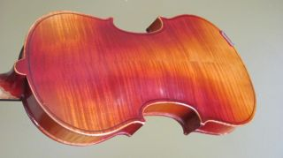 Antique Antonius Stradivarius German 4/4 Violin & 2 Bows Tiger Maple Back photo