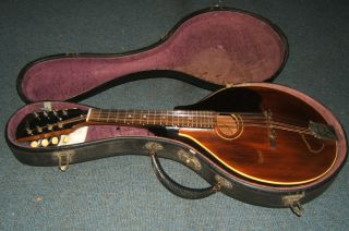 Vintage 1920 Gibson A Style Mandolin W/ohsc - Refinished - Vgc - Nr photo