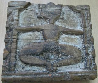 Very Rare Vintage Hand Carved Wooden Panel Sitting Jain Trithankar Do ' T Miss It photo
