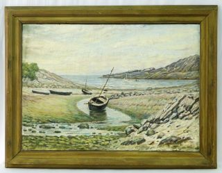 William Ernest Chapman New York Artist Impressionist Seascape Painting photo