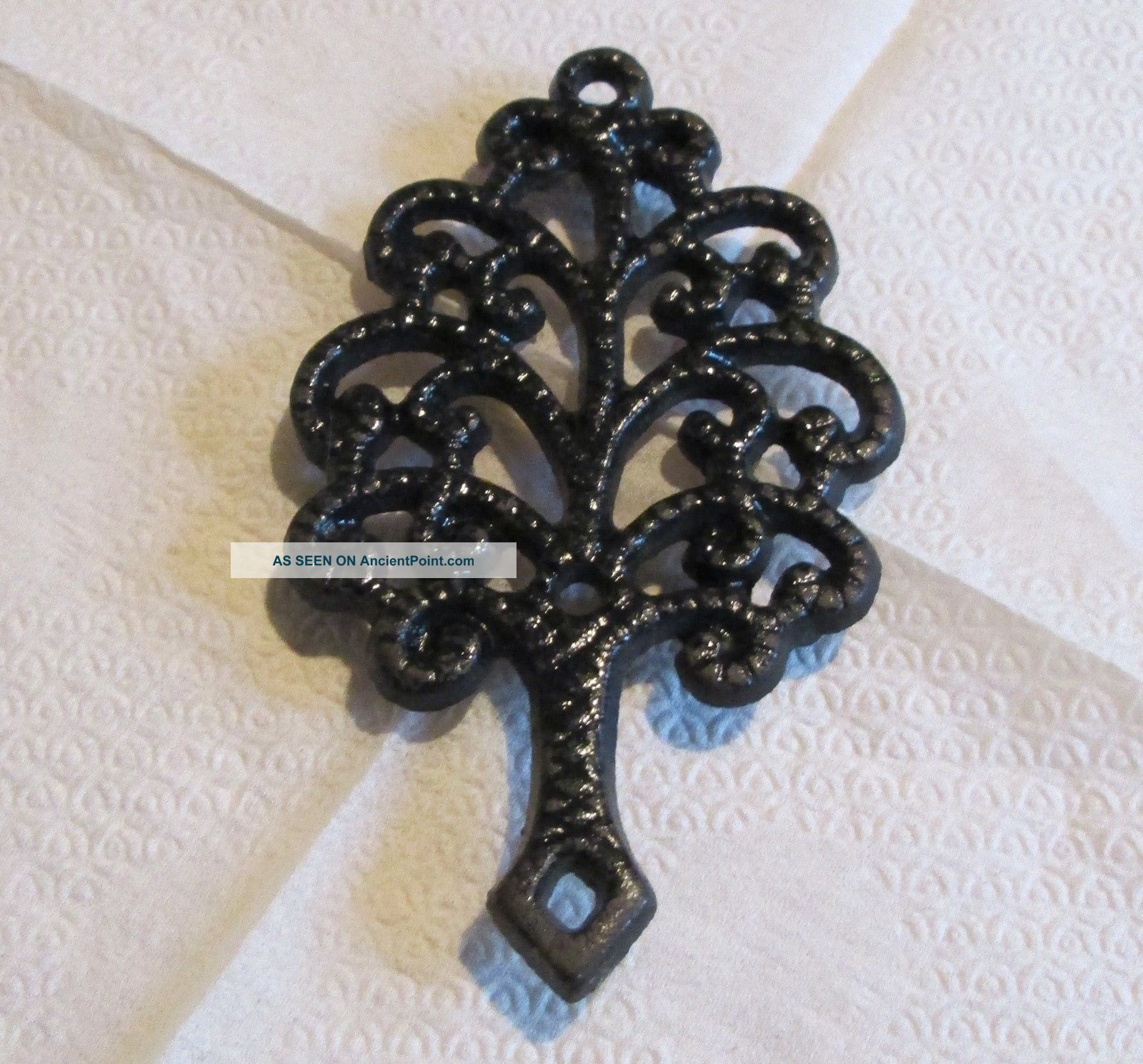 Vintage Cast Iron Metal Tree Trivet Mt - 3 Collectible Or For Kitchen Use Trivets photo