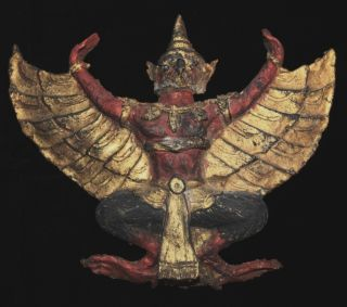 Early 20th Century Garuda Bird Krut Pha Wall Hanging photo