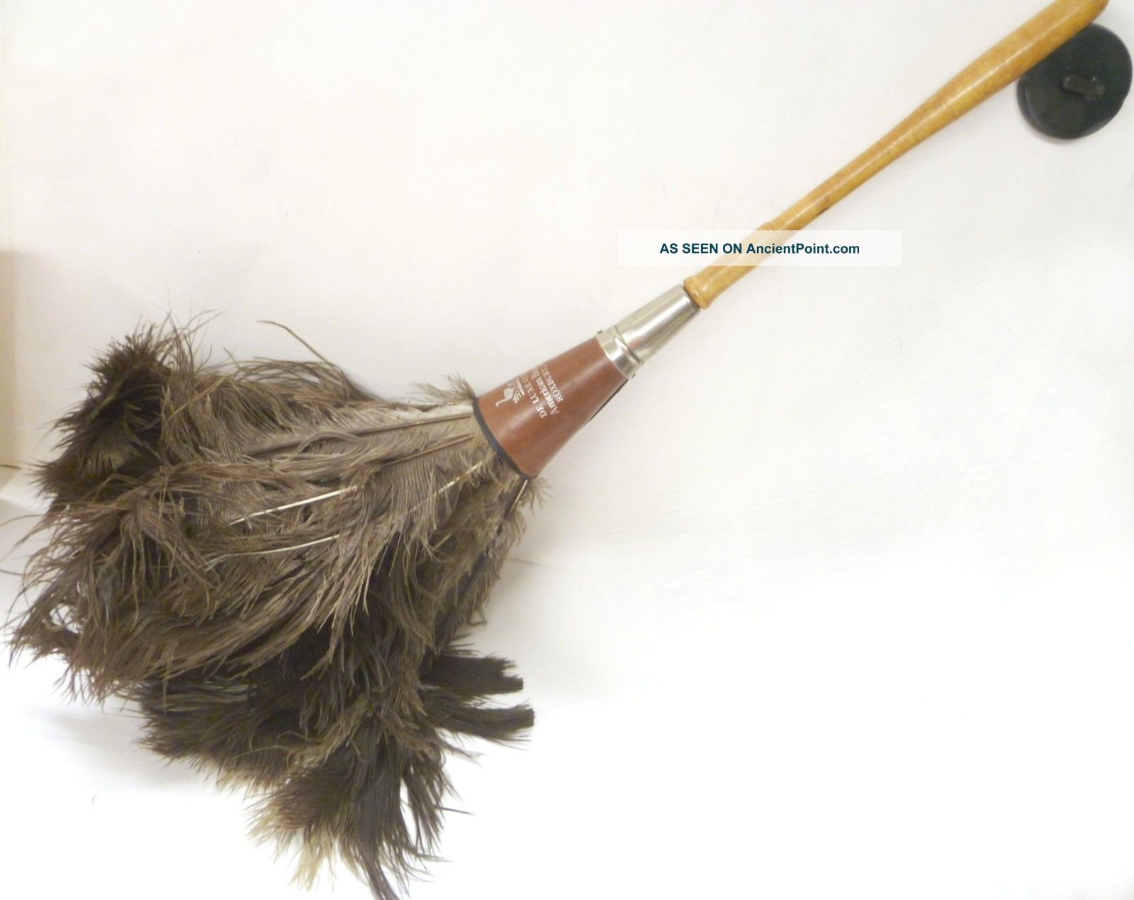 Vintage Antique Ostrich Feather De Luxe Duster American Brush Co Roxbury Mass Other photo