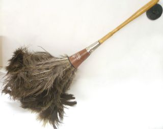 Vintage Antique Ostrich Feather De Luxe Duster American Brush Co Roxbury Mass photo
