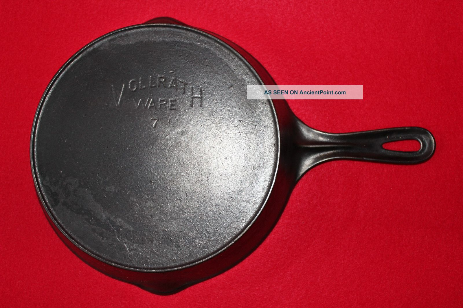 Vintage Volrath Ware No.  7 Cast Iron Skillet W/ Heat Ring Sheboygan Wi.  U.  S.  A. Hearth Ware photo