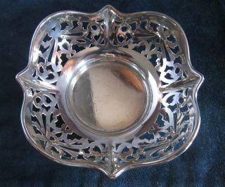 Antique Solid Silver Bon Bon Dish - Birmingham 1916 photo