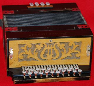 Antique Beaver Brand German Accordion B - Es Early 1900 ' S Works Squeeze Box photo
