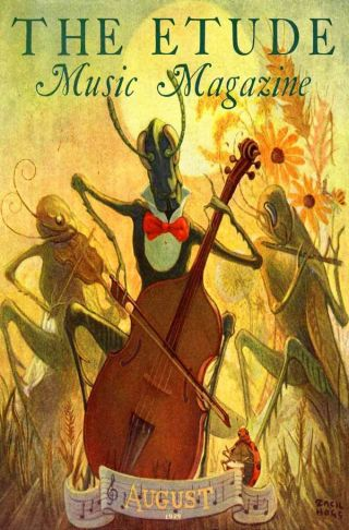 Fa 1929 Grasshopper Band Music Cello Flute Violin Poster photo
