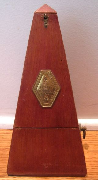 - Antique Vintage 1815 - 1846 Maelzel Paquet Wood Fabricant Metronome - France photo