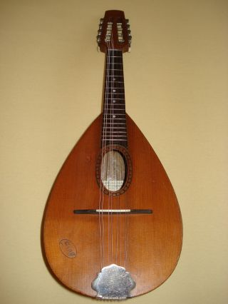 German Mandolin From C.  A.  Wunderlich Ca.  1950 photo