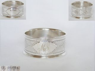 Edwardian,  Solid Silver Napkin Ring – 1906 Chester photo