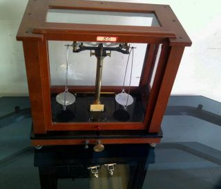 Antique 19th C.  Apothecary Pharmacy Chemist Balance Scale photo