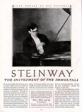 Fp 1925 John Powell Steinway Piano Music Theater Art Ad photo