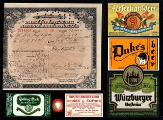 May 21 22 1928 Joe Luty Prohibition Whiskey Prescription Brewer History Document photo