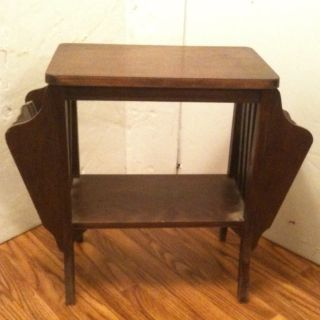 Antique Sewing Stand.  Early American Handcraftsmanship Roll Down And See All Pix photo