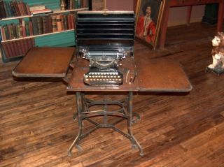 Rare Arts & Crafts Toledo Metal Furn.  Typewriter Desk photo