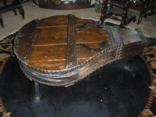 Antique 1850 ' S Industrial Wood Bellows Coffee Table photo