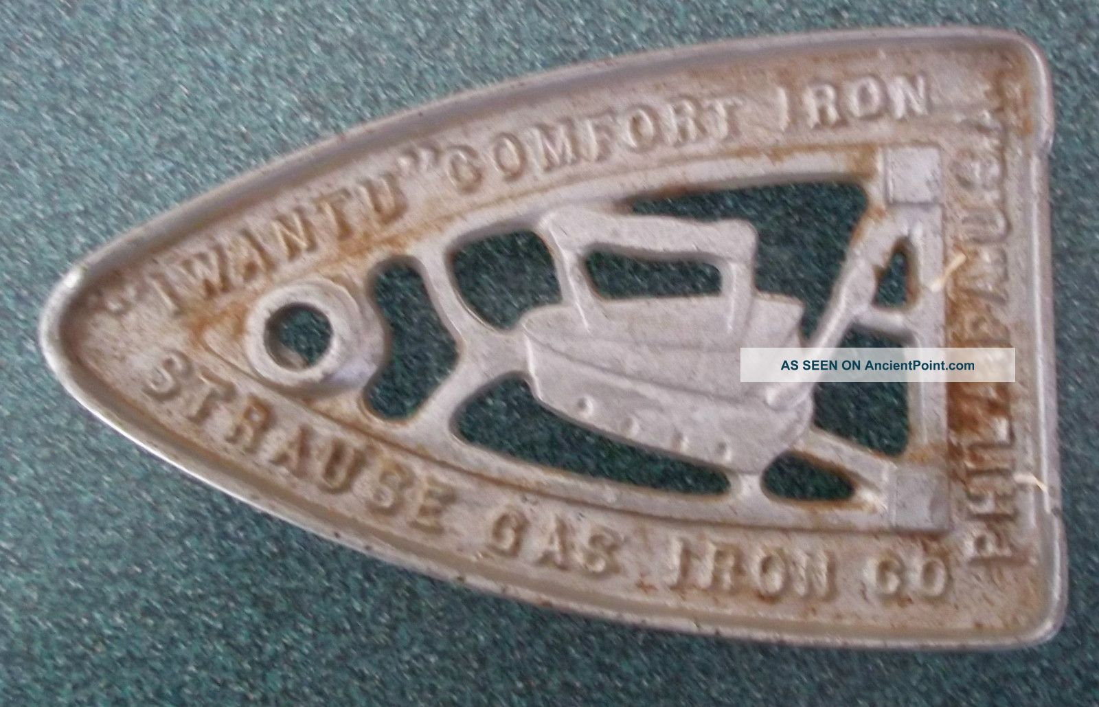 Antique Strause Gas Trivet; Sad Iron Rest Trivets photo
