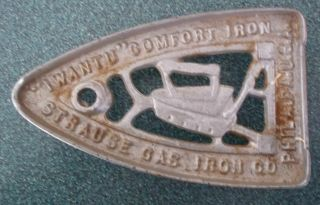 Antique Strause Gas Trivet; Sad Iron Rest photo