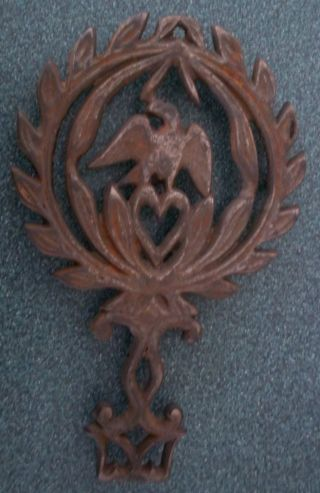 Antique Eagle Cast Iron Trivet; Sad Iron Rest photo