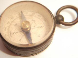Military Compass German Pocket Compass Brass Dry Card Compass Antique Instrument photo