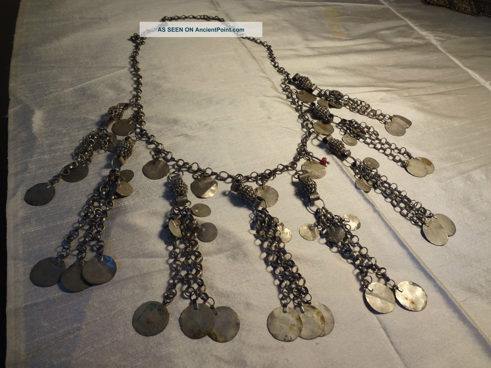 Antique Ottoman Turkish Silver Necklace Middle East photo