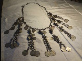 Antique Ottoman Turkish Silver Necklace photo
