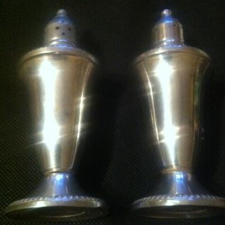 Vintage Duchin Creations Weighted Sterling Silver Salt & Pepper Shakers photo