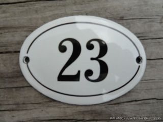 Small Antique Style Enamel Door Number 23 Sign Plaque House Number Furnituresign photo